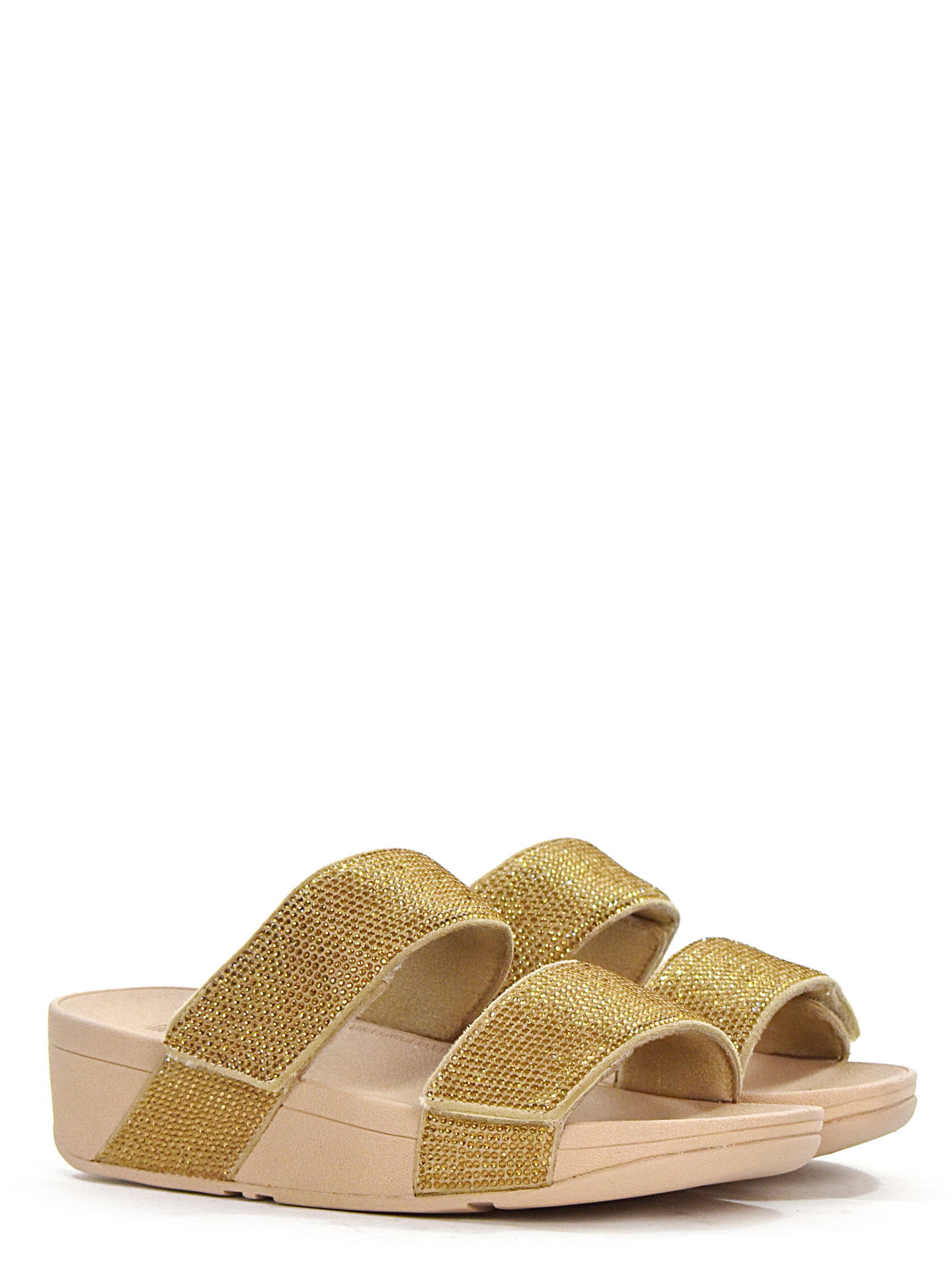 SANDALO BASSO FITFLOP MINACRYSTAL ORO