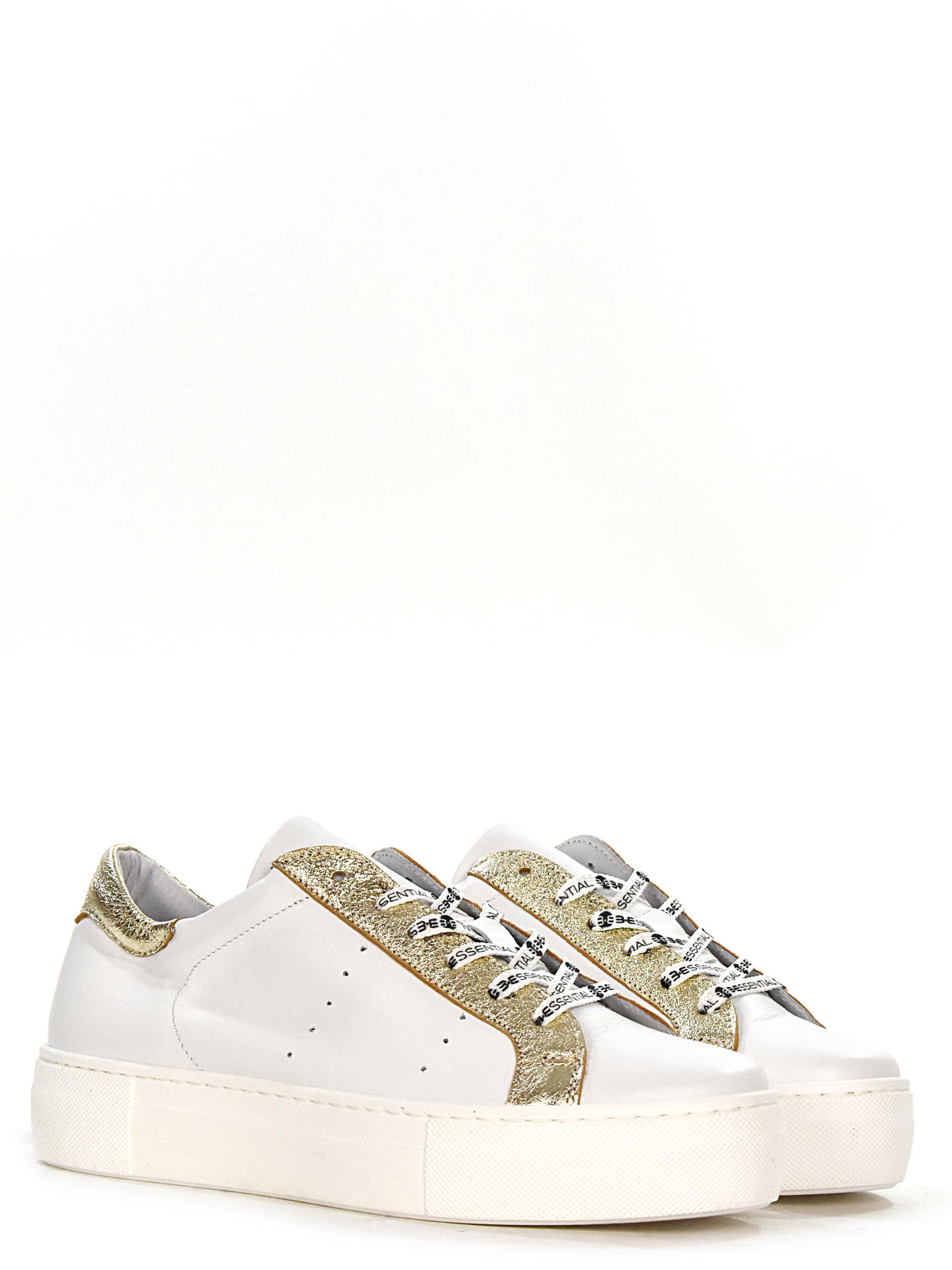 SNEAKERS B*ESSENTIAL PLAIN PLATINO
