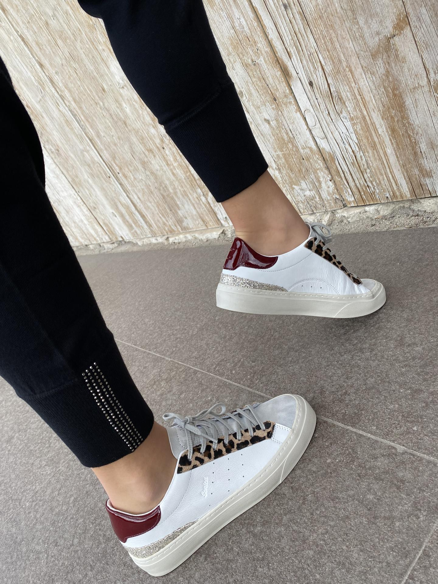 SNEAKERS D.A.T.E SOANWX BIANCO/ROSSO
